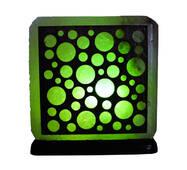 """Соляной светильник с деревянными элементами цветной """"Шарики"""" (3-4 кг) """"Saltlamp"""""""