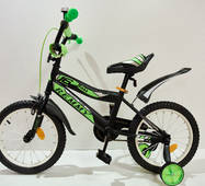 """Велосипед 16""""- Remmy BOSS черно-зеленый матовый"""