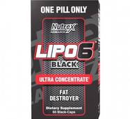 Жиросжигатель Lipo-6 Black Ultra Concentrate Nutrex Research 60 black-капс