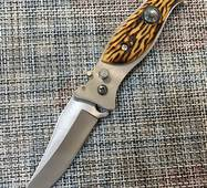 Ніж викидний з кістяною ручкою 17,5 см / FR-14