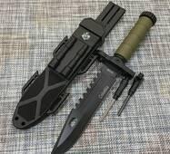 Мисливський ніж Colunbia з кресалом і компасом 32см / 2518В