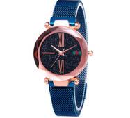 Женские часы Starry Sky Watch на магнитной застёжке Синие