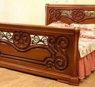 Дерев'яне ліжко Камелія ЮрВіт з масиву дуба