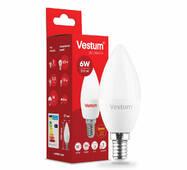 Лампа LED Vestum C37  6W 3000K 220V E14