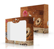 Упаковка для капкейков, картонная, под заказ