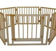 Дитячий дерев'яний манеж 72 см, 6 секцій з воротами