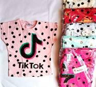 Футболка для девочек 5-8 лет Tik Tok
