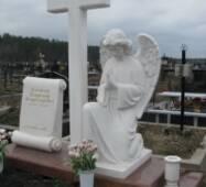 "Скульптура ""Молящийся Ангел"" из белого мрамора"