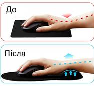 Коврик для мишки Goobay Ergonomic Mousepad Black (77604)