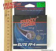 "Шнур FRENZY FISHER ""ELITE FF-4"" 0,18мм 4-х жильный (100м)"