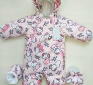 Демісезонний комбінезон-трансформер Timmy Kids Kitty 56-80 см Рожевий