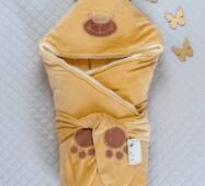 Зимний конверт-одеяло Lari Little Bear 85х85см горчичный