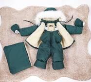 Зимний комбинезон трансформер тройка Natalie Look 56-86 см Зеленый