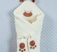 Зимовий конверт-ковдра Lari Little Bear 85х85 см молочний