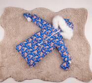 Зимний комбинезон трансформер тройка Natalie Look игрушки 56-86 см Голубой
