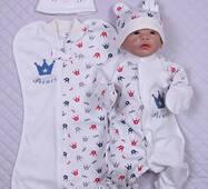 Набір одягу для новонародженого в пологовий будинок Lari Принц 56 синій