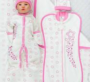 Набір одягу для новонародженого в пологовий будинок Lari Зірки 56 рожевий
