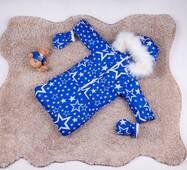 Зимний комбинезон трансформер тройка Natalie Look звезды 56-86 см Голубой