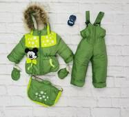 Зимний комбинезон трансформер Timmy Kids Микки 56-86 см Зеленый