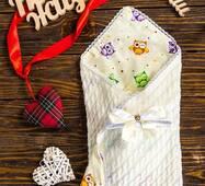 Вязаный плед для новорожденного New life 85х85 см
