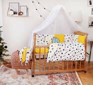 Комплект постельного белья для новорожденных с защитой-бортиками Верона Короны
