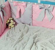 Комплект постільної білизни для новонароджених Шарм 10-02 рожевий