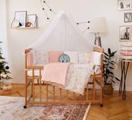 Комплект постельного белья для новорожденных с защитой-бортиками Верона - 2Фламинго