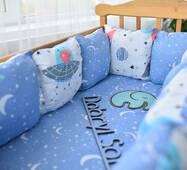 Защита в кроватку Dobryi son Облачко 12 шт 03-05-01 синий