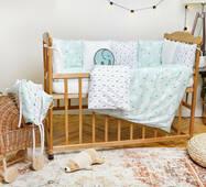 Комплект постельного белья для новорожденных с защитой-бортиками Верона - 2 Ёлочки