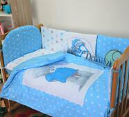 Комплект постільної білизни для новонароджених Теді панелі 01-04 Блакитної