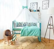 Комплект постільної білизни в ліжечко Панелі 3-10 М'ятний