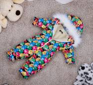 Комбінезон дитячий зимовий на овчині Natalie Look M&M's 110-116 см кольорової