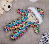 Комбінезон дитячий зимовий на овчині Natalie Look M&M's 128-134 см кольорової
