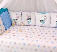 Комплект постільної білизни в ліжечко Панелі 3-10 Блакитний