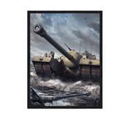 """Постер """"World of Tanks"""" із склом антивідблиску  297x420 мм в чорній рамці"""