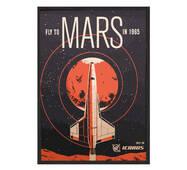 """Постер """"Fly to Mars"""" без скла 297x420 мм в чорній  рамці"""