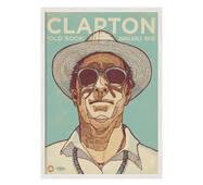 """Постер """"Clapton"""" із склом антивідблиску 420x594  мм у білій рамці"""