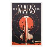 """Постер """"Fly to Mars"""" без скла 297x420 мм у білій  рамці"""