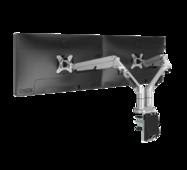 Настільне кріплення для двох моніторів Loctek DLB851D2 White