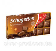 Шоколад молочный SCHOGETTEN CARAMEL BROWNIE карамельний брауні 100г (1/15)