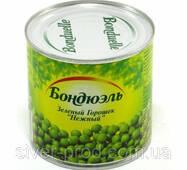 """Горошек зеленый консервированный 400г же/бы """"Bonduelle"""" (1/12)"""