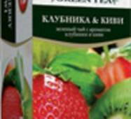 """Чай """"ТРИ СЛОНА"""" 20ф/п*1,3г Зеленый Клубника-киви бы/я (1/20)"""