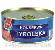 Паштет Konserwa Tyrolska 300г курица свинина EvraMeat ключ же/бы (1/12)