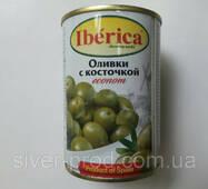 """Оливки зелены с косточкой 280г """"econom"""" Iberika (1/12)"""