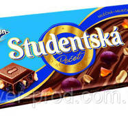 Шоколад молочный Studentska Арахис, Цукаты и Изюмины 180г Orion (1/16)