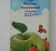 """Сек 0,2л яблочно-клубничный с мякотью """"Экосфера"""""""