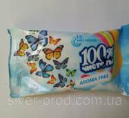 """В.серветки """"100% Чистоты"""" без запаху 15шт (1/100)"""