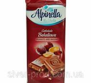 Шоколад Alpinella молочен с арахисом и изюминами 90г (1/25)