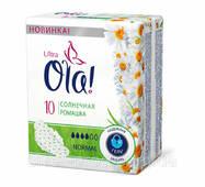 Прокладки Ola! Ultra Normal 4краплі Ромашка 10шт (1/24)
