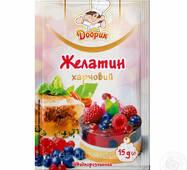 """Желатин пищевой (быстрорастворимый) """"Любисток/Добрик"""" 15г (1*20/200)"""